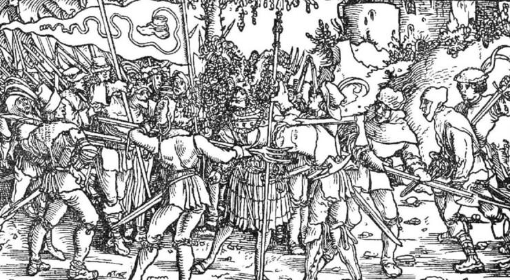 Luther var imod enhver form for religiøst motiveret oprør. Dermed også bondeoprøret i 1520'erne