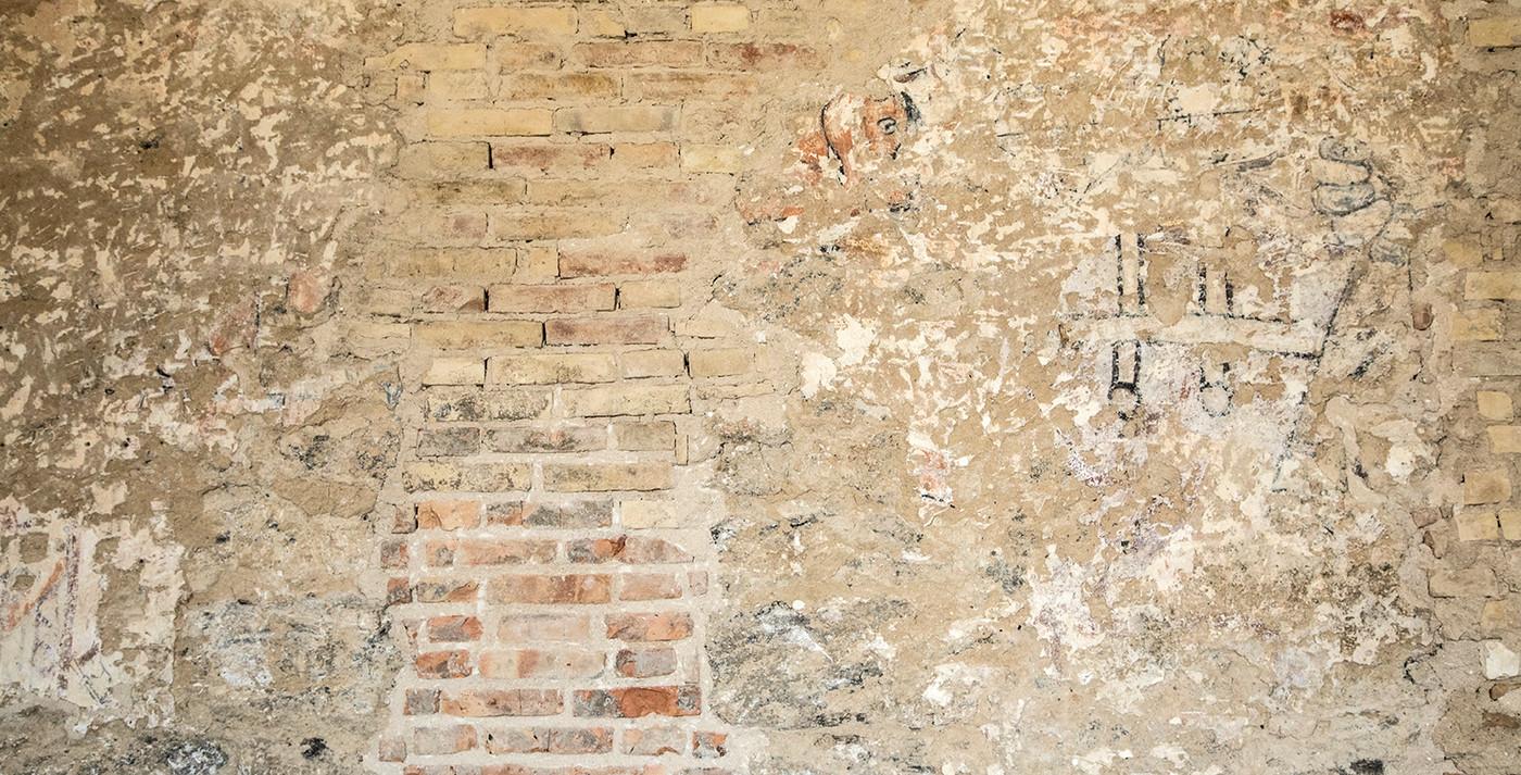 Murværk i Vrigsted Kirke