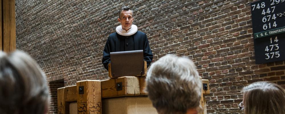 Præstens fortolkning af evangeliet er en del af søndagens højmesse i folkekirken