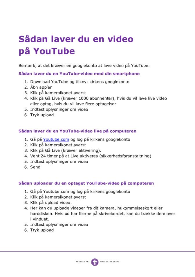 Sådan laver man en video på YouTube
