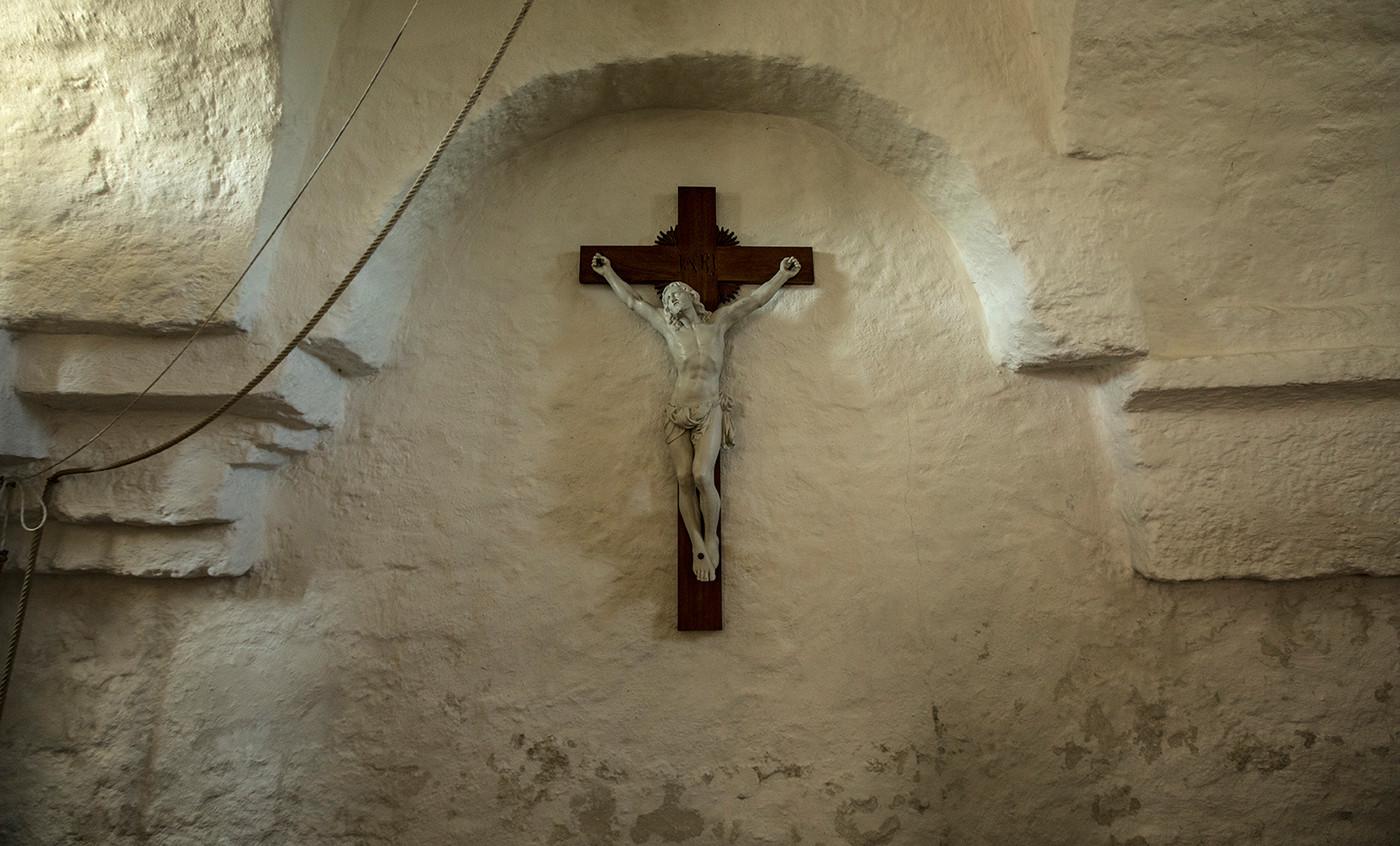 Jesus på krucifiks i Vrigsted Kirke