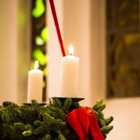 Adventskrans i kirken