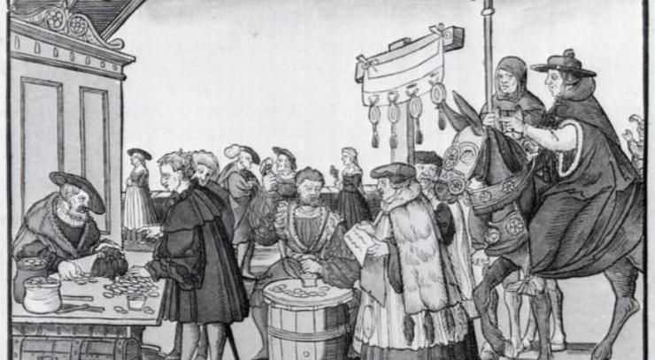 Luther gjorde op med tanken om, at man kunne købe sig til frelse ved hjælp af afladsbreve.