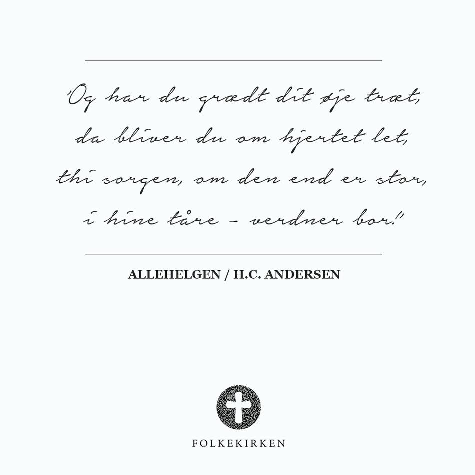 H.C. Andersen om sorg