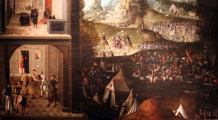 Kejseren indledte en krig mod de evangeliske, der havde samlet sig i en forsvarsalliance.