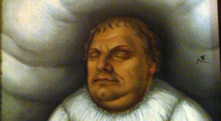 """Luther døde i 1546 - 62 år blev han. De sidste ord han skrev var: """"Vi er tiggere - det er sandt""""."""