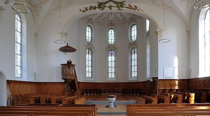 Reformerte kirkerum er ofte blottet for udsmykning
