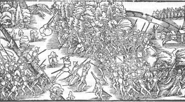 Reformatoren Ulrich Zwingli var feltpræst og faldt i Slaget ved Kappel