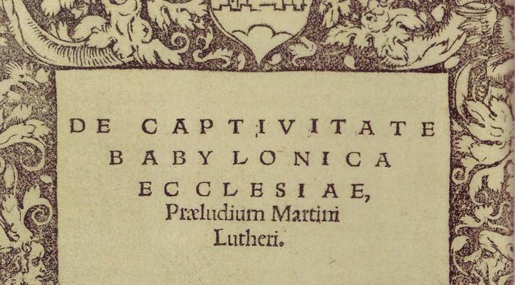 Et af Luthers mest kendste skrifter gør op med synes på sakramenter i kirken samt præsteskabet.