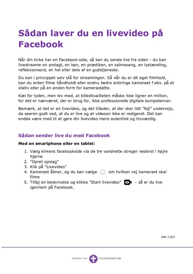Sådan laver man en livevideo på Facebook