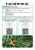 2. tekstrække - Påskevandring - palmesøndag,
