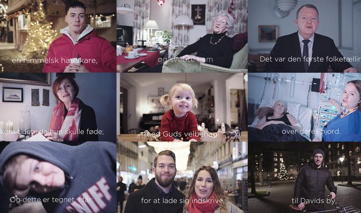 Juleevangeliet fortalt af danskerne