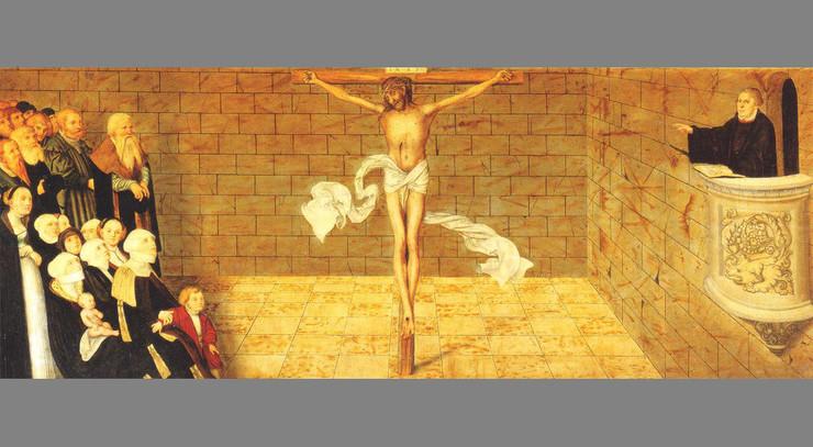 Du kan ikke blive frelst ved gerninger, sagde Luther. Kun troen alene kan frelse.