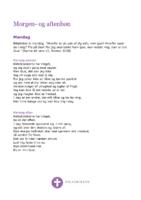 Morgen- og aftenbøn - Mandag