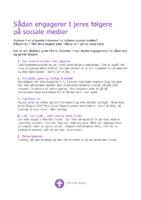 Fem råd til engagement på sociale medier