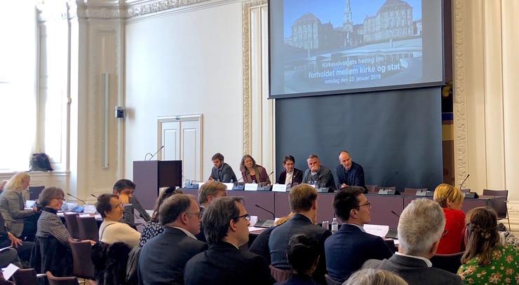 Høring om kirke og stat Christiansborg
